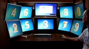 10-Ти мониторный рабочий стол своими руками