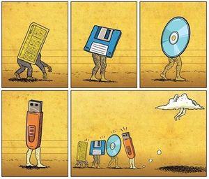 Эволюция носителей информации: о перфокартах, магнитных плёнках и дискетах