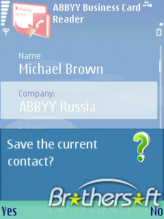 Обзор abbyy business card reader для android