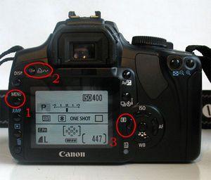 Определяем количество срабатываний затвора на canon 400d или сколько наснимал фотоаппарат