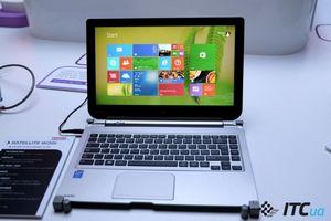 Первый взгляд на 13,3-дюймовые гибридные ноутбуки-планшеты toshiba satellite w30t и w30dt