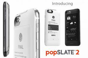 Popslate 2 — обновленный чехол для apple iphone обзавелся небьющимся e-ink экраном и собственной встроенной батареей