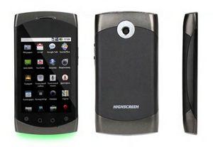 Смартфон highscreen cosmo: android 2.2, емкостный экран и цветомузыка
