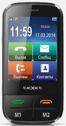 Texet tm-b450 — «бабушкофон» с сенсорным экраном