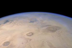 Взгляд на марс от mars express